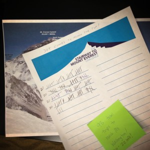 mt. everest stair climbing challenge tracking form