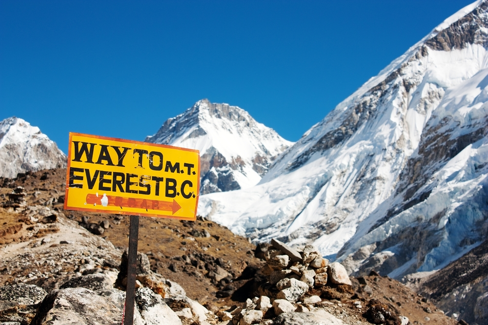 Mt. Everest Base Camp Sign
